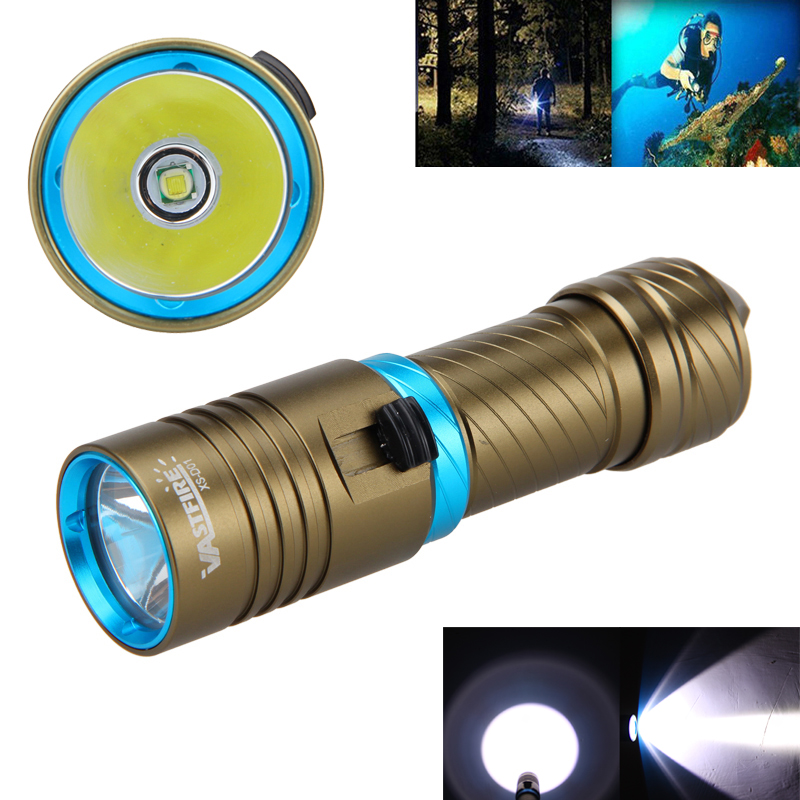 New Waterproof Diving Flashlight Torch 10000LM T6 LED Aluminum Adjust Brightness Lanterna Light by 18650/26650 Batery фонарик brand new 2015 t6 2000lm lanterna 26650 batteyr efl0509