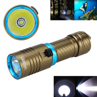 New Waterproof Diving Flashlight Torch 10000LM T6 LED Aluminum Adjust Brightness Light Bt 18650 26650 Batery