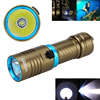 New Waterproof Diving Flashlight Torch 10000LM T6 LED Aluminum Adjust Brightness Light Bt 18650 26650 Batery