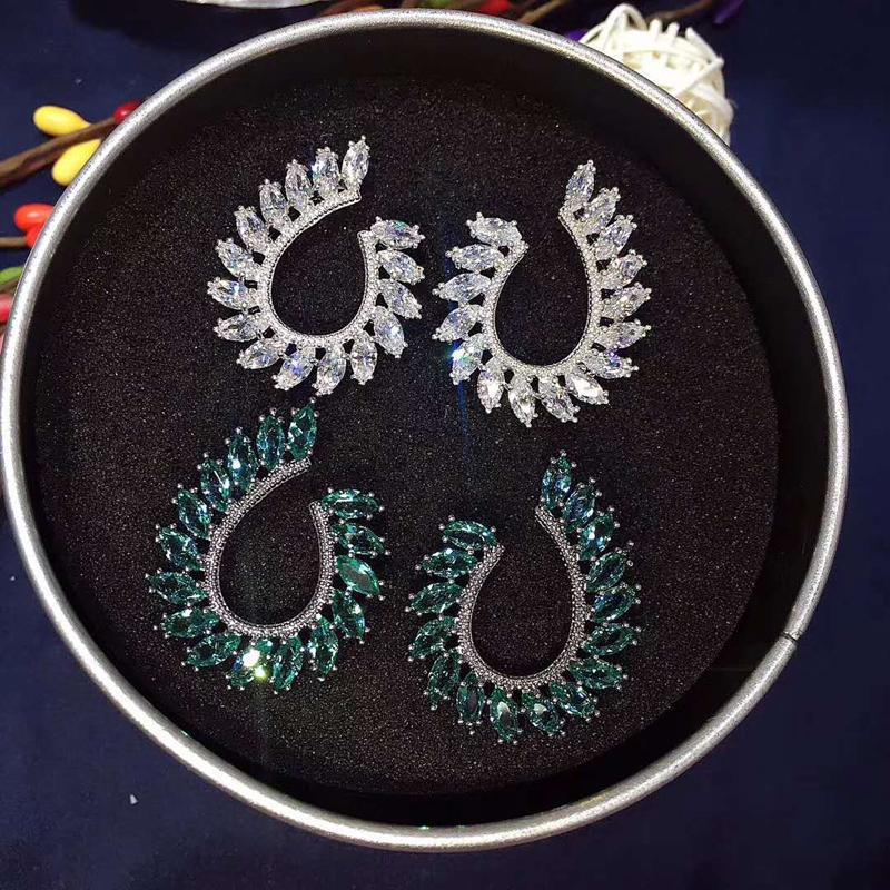 Женские серьги гвоздики hibride в бразильском стиле украшение