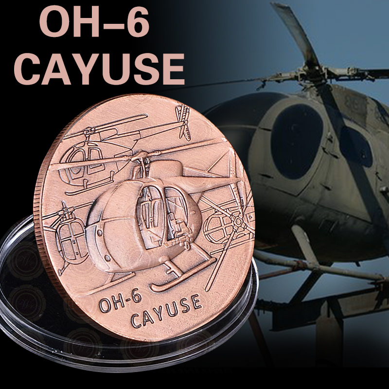 U.S. Army Air Force Cayuse OH-6 Coin America Souvenir Brass Custom Coin Low Price Challenge Novelty Coin For Value Gift image