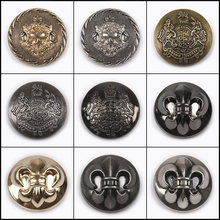 25 mm Dia. Metal Buttons for Clothing Alloy Gold/Silver Plated Vintage Windbreaker Jacket DIY Sewing Supplies 100 pcs
