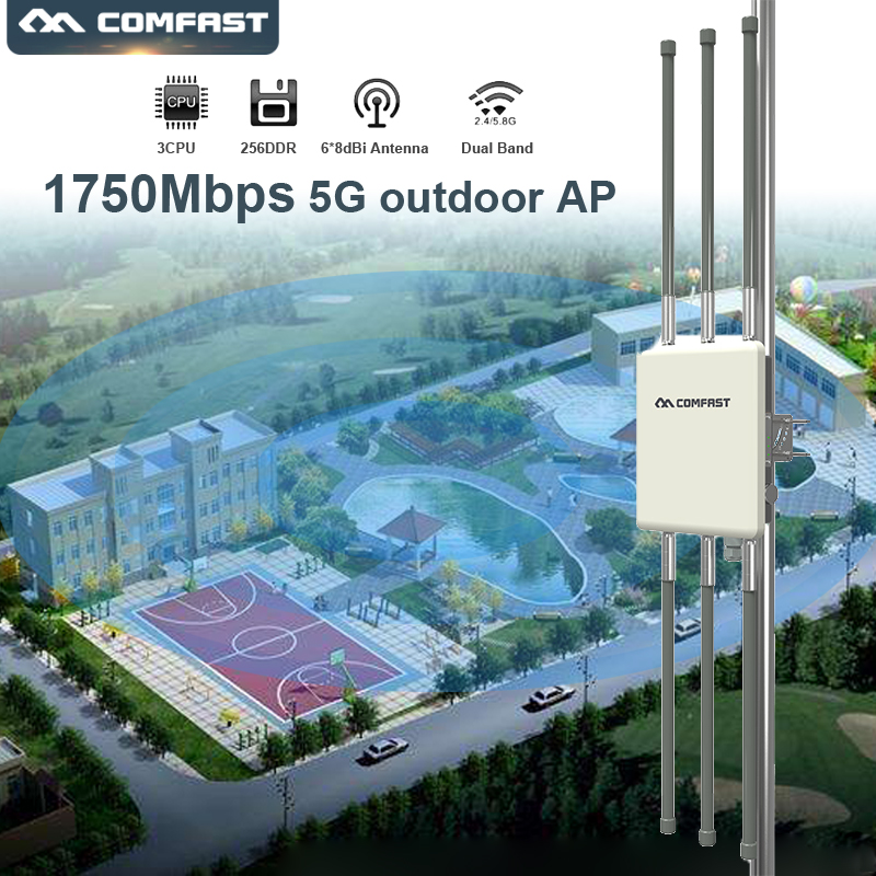 Comfast WA900V2 Dual Band 1750Mbps High Power Outdoor Wireless AP WiFi Signal Amplifier/Booster Wireless Router 5G Wifi Extender