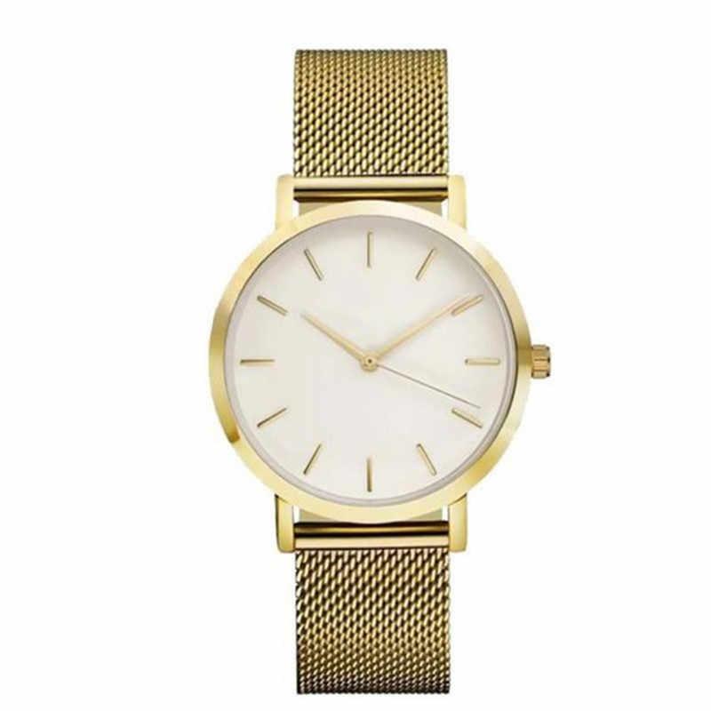 2018 למעלה מותג נשים של יוקרה זהב וכסף שעונים נשים של אופנה שמלת קוורץ שעונים מתנה לשנה חדשה relogio feminino