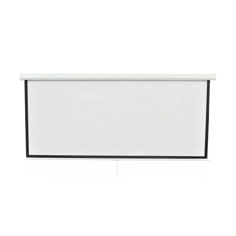 98.4 Inch Manual Projection Screen White 4:3 HD Wall Mounted Anti-static Dustproof Canvas Projector Screen For Home Theater98.4 Inch Manual Projection Screen White 4:3 HD Wall Mounted Anti-static Dustproof Canvas Projector Screen For Home Theater