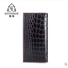 Gete новый мужской кожаный бумажник длинный деловой из крокодиловой