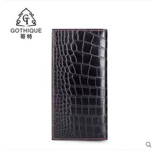 gete The new  Man's leather wallet long leather business crocodile leather wallet