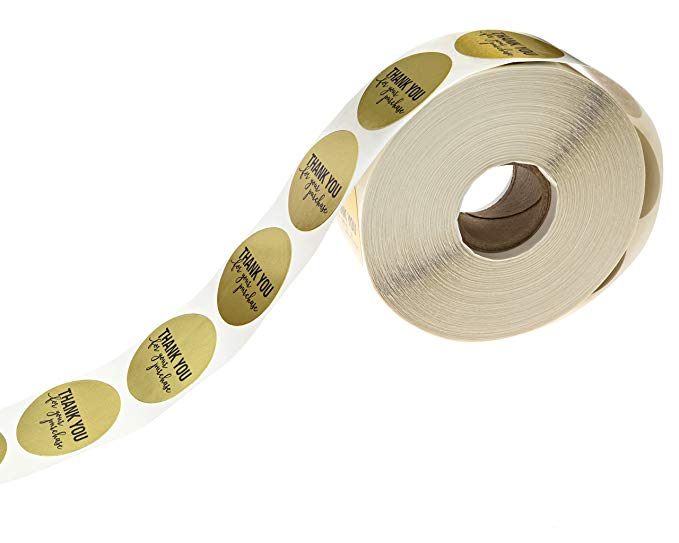 """Купить с кэшбэком 5roll Round Gold """"THANK YOU for your purchase"""" Stickers seal labels 500 Labels stickers scrapbooking for stationery sticker"""