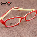 Óculos de Armação TR90 Silicone das crianças Das Meninas Dos Meninos EV0297 Ambliopia Hipermetropia Miopia Quadros Super Leve