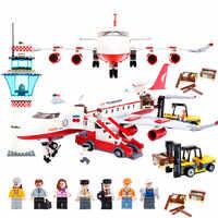 City International Airport 856PCS Bricks Private Plane Building Blocks Sets Bricks Model Kids Toys Creator Compatible Legoings