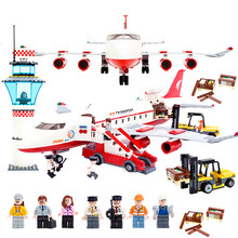 Şehir havaalanından sevkiyat hizmeti 856 ADET Tuğla Özel Uçak Yapı Taşları Setleri Tuğla Modeli Çocuk Oyuncakları Yaratıcı Uyumlu Legoings