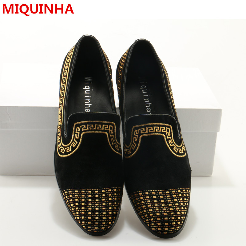 Hot 2017 Shoes Man Cozy Loafers Suede Slip On Round Toe Embroider Flats Designer Men Smoking Slippers Plus Size Man Casual Shoes new stylish man shoes lace up round toe comfort breathable shoes for man casual flats loafers chaussure homme free shipping