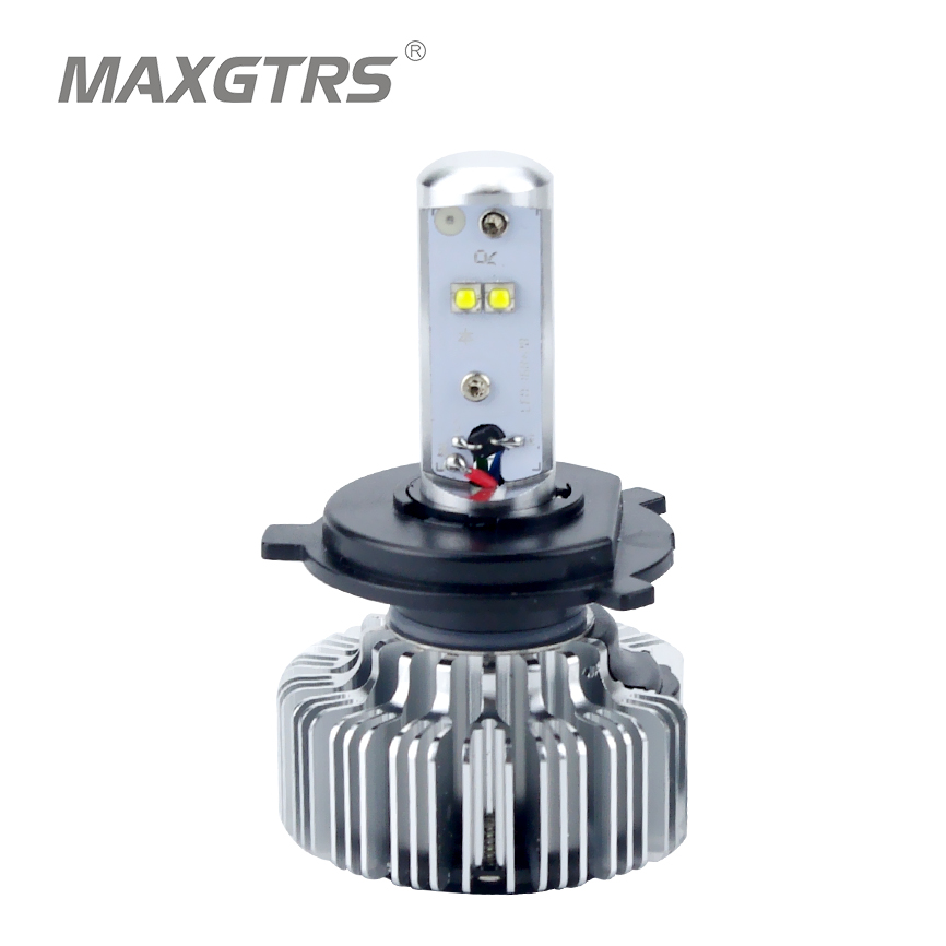 Motorcycle Headlight CREE Chips LED 20W H4 H6 Hi Lo 3000LM Motorbike Light p15d-25-1 BA20d p43t For Ktm Exc Cafe Racer Harley