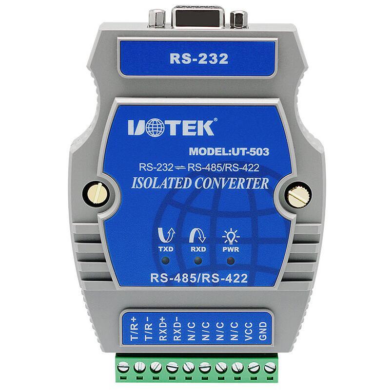 UT 503 промышленный RS 232 RS 485/422 Порт преобразователь питания с изоляцией 600 Вт Защита от перенапряжения
