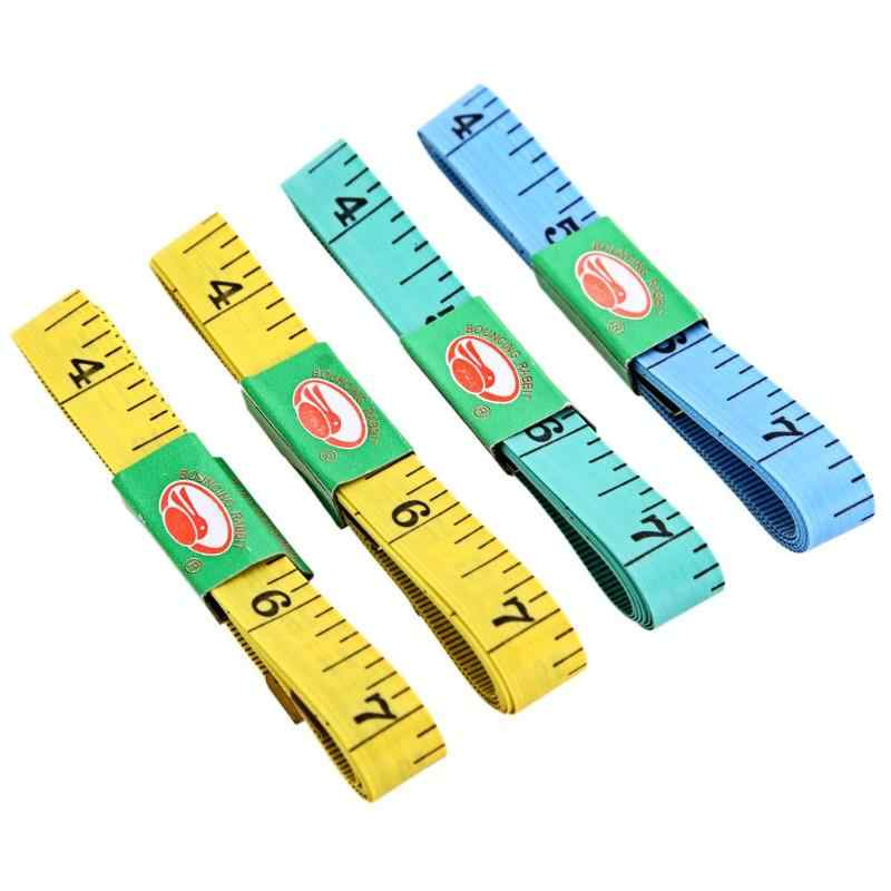 4pcs Body Measuring Ruler Sewing Tailor Tape Measure Soft Flat Sewing Ruler Meter Sewing Measuring Tape Random Color 60Inch 1.5M