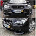 Carbon Fiber E60 Front Bumper Splitter, Car Front Apron Spoiler for BMW (Fit  bmw e60 M TECH bumper )