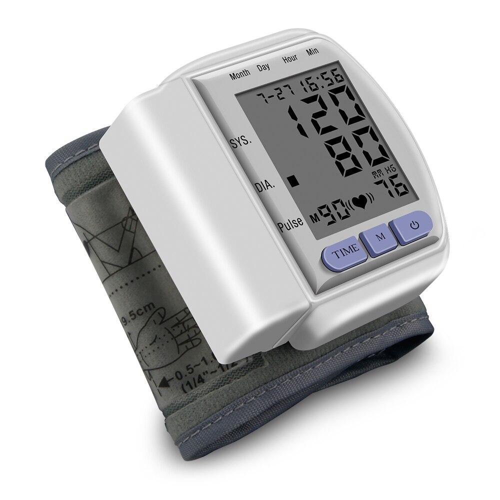 Schlussverkauf Automatische Hause Handgelenk Blutdruck Lcd Digital Display Bildschirm Pulsmessgerät Und Tonometer Monitor Heart Beat Meter
