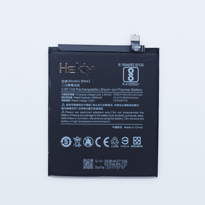 Hekiy Phone Battery BN43 For Xiaomi Redmi Note 4X Hongmi Note4X 4100mAh Original Replacement Bateria Lithium Polymer Batteries