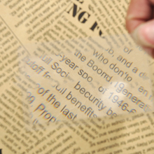 New Arrival 1PCS Credit Card 2 X Magnifier Magnification Magnifying Fresnel LENS