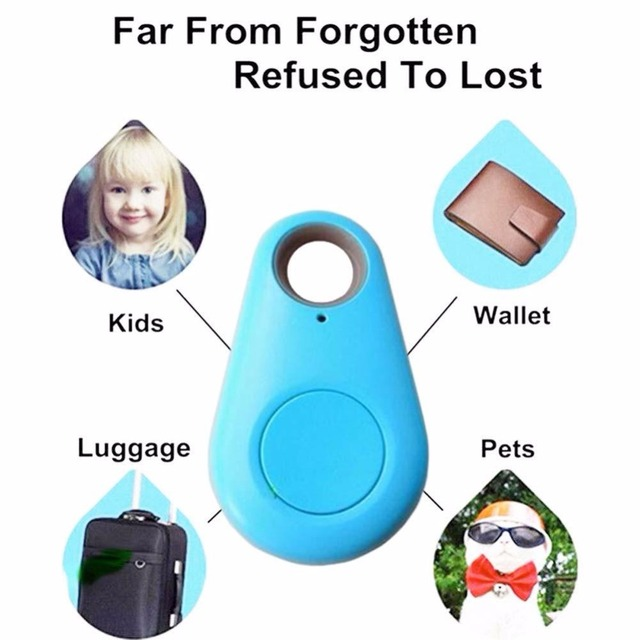 Smart Finder Bluetooth Tracer Pet Children GPS Locator Tag Alarm Wallet Key vehicle tracking system phone track bluetooth Blue