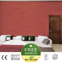 2019 MEIN WIND rot Luxus Tapete sisal grasscloth 3D tapeten designs vintage wand papiere klassische wohnkultur für mädchen schlafzimmer