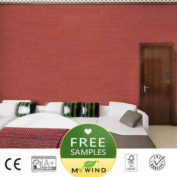 2019 MY WIND red Luxury Wallpaper sisal grasscloth 3D wallpapers designs vintage wall papers classic home decor for girl bedroom