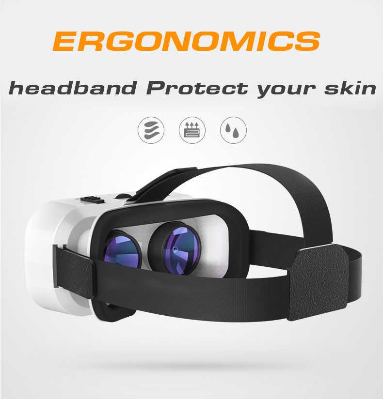 VR SHINECON 5,0 Очки виртуальной реальности VR Box 3D очки для 4,7-6,0 дюймового телефона