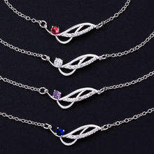 Fashion Women Leg Bracelets Foot Chains Feet Bangle Jewelry silver Plated Girls Gem Crystal Zircon Wedding Multicolor Anklets