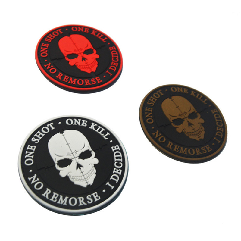 3D-PVC-K9-SERVICE-DOG-One-Shot-One-Kill-Tactical-USA-Army-Morale-Patch-Hook-Loop