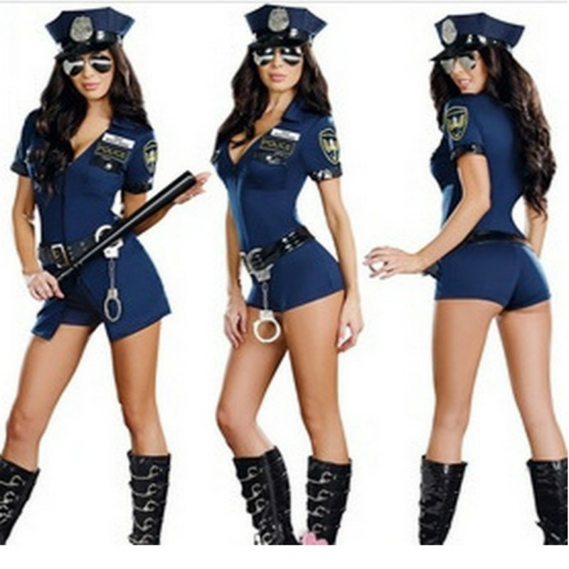 2017 new wholesale sexy girl woman cop costumes officer uniform halloween adult fancy policemen policewoman costume for women - Girls Cop Halloween Costume