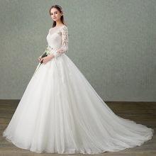 Elegant Sheer Neck Beading Lace Vestidos De Novia Boda Fairy Tulle Backless A line Wedding Dresses