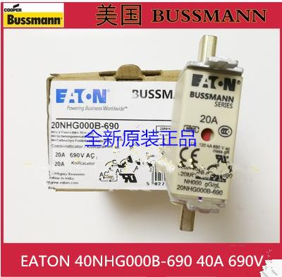 40NHG000B-690 American BUSSMANN gL gG fuse 40A 690V new original genuine american original fuse bussmann 170m1371 170m1371d 250a 690v fuse