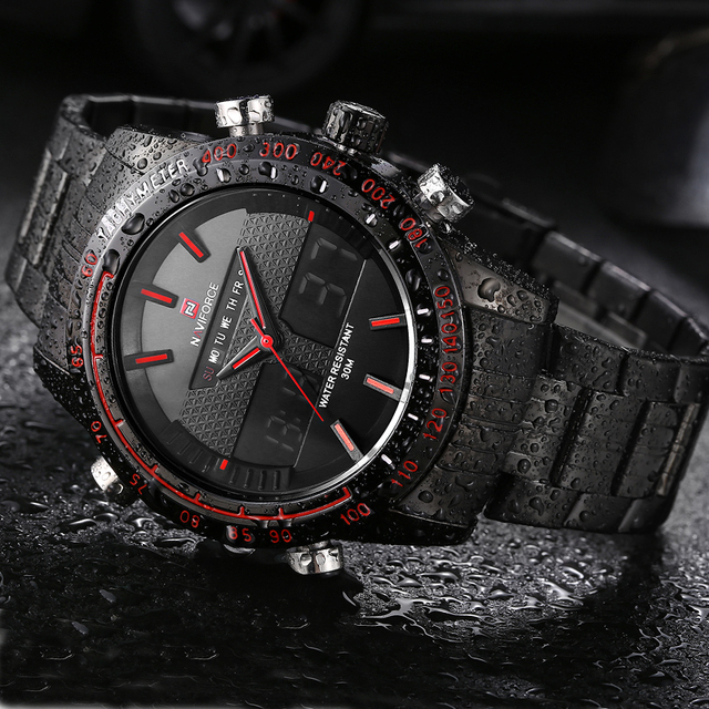 NAVIFORCE Mens watches top Brand Luxury Casual Quartz Watch Men Waterproof Military Wristwatch Stainless Steel Relogio masculino