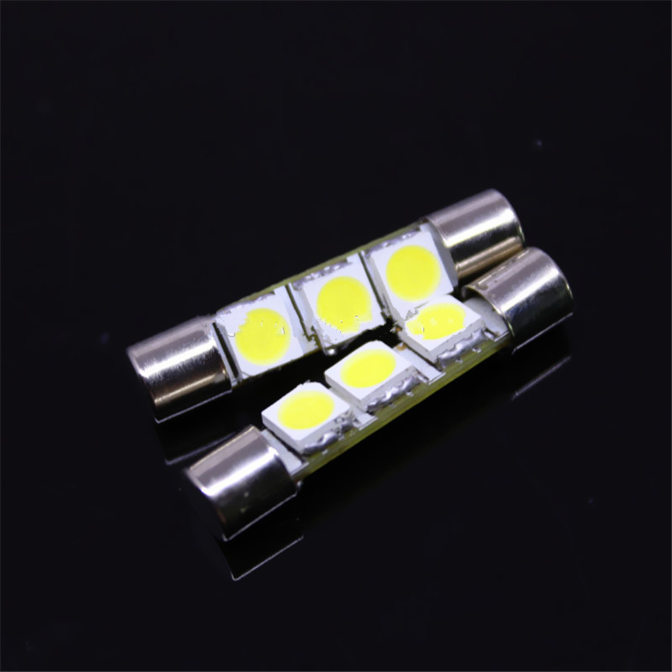 Durable Low Power Consumption 10x Visor Mirror Light Car 6614 28mm Led Lamp Circuit Board50503smd China 5050 3smd Interior Festoon Bulbs In Headlight Bulbsled From Automobiles