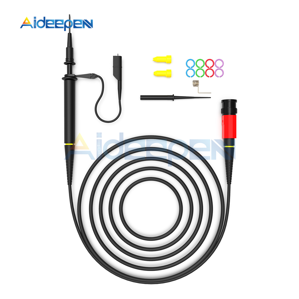 Oscilloscope Probe Kit,P4250 Oscilloscope High-Voltage Probe 100:1 2KV 250MHz Crocodile Clip BNC Test Lead Kit