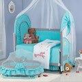Экспорт ткань кроватки кроватки детская кроватка шейкер кровать с москитной сеткой сеть вокруг кровать складной манеж bb king кровать Бесплатно доставка