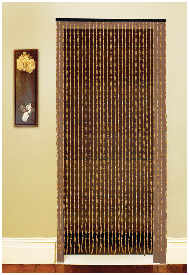Fashion Bead Door Curtain Wooden Bead Door Screen Feng