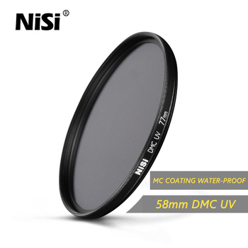 Nisi 58mm DMC UV Filter Ultra Thin Professional DMC UV Filters Water-Proof Coating Filter AGC Glass Free Shipping