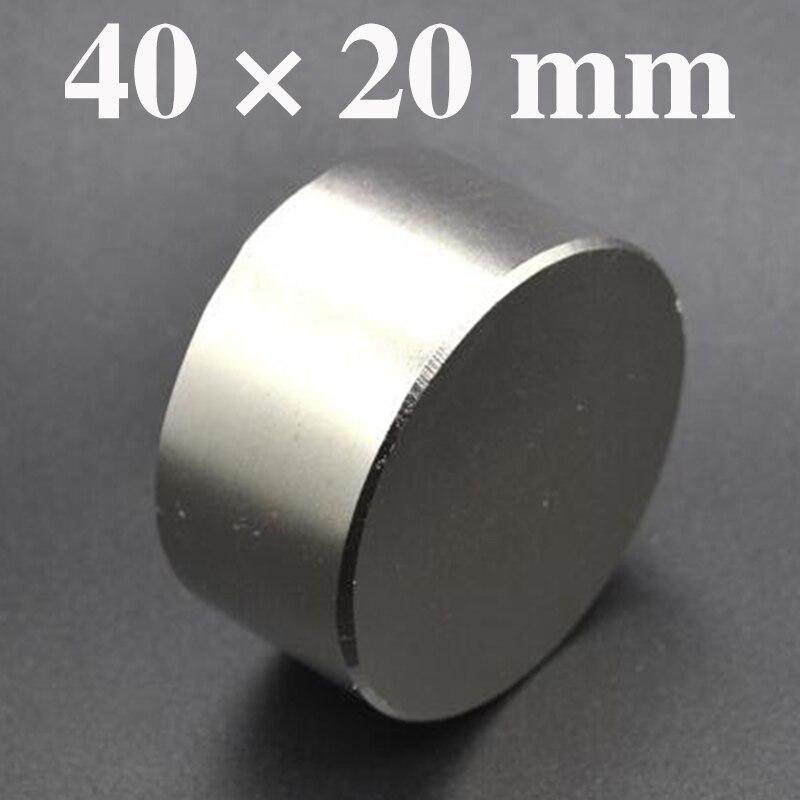 HYSAMTA 1 stück hot magnet 40x20mm N52 Runde starke magneten starken Neodym magnet 40x20mm magnetische metall 40*20mm