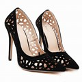 New Style Women's Sexy High Heels Cut-Outs Celebrity Ladies Sandals Pumps Woman Shoes Black US5-9
