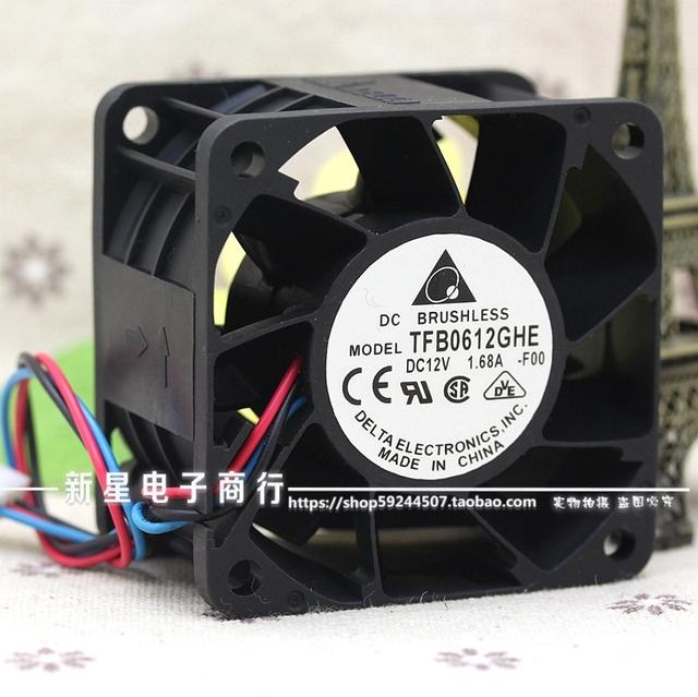 Original 6038 12 V 1.68A TFB0612GHE 6 cm ventilador de refrigeração do servidor