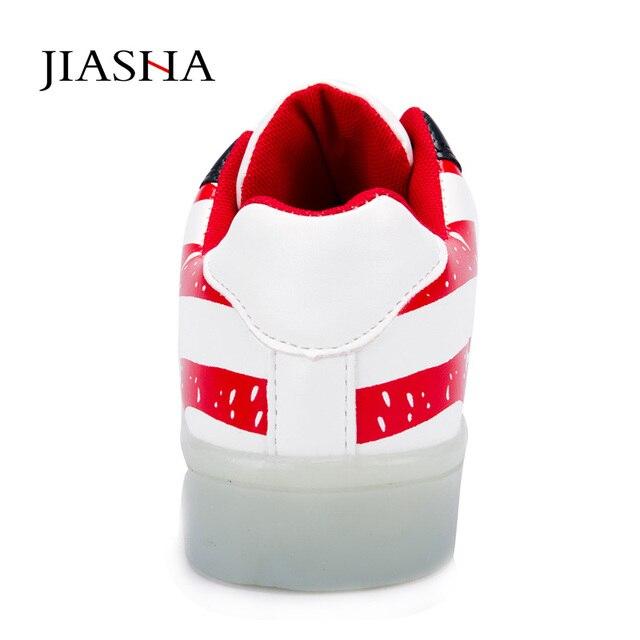 2016 Led shoes for adults 35-44 women casual shoes light plus size Luminous canvas shoes