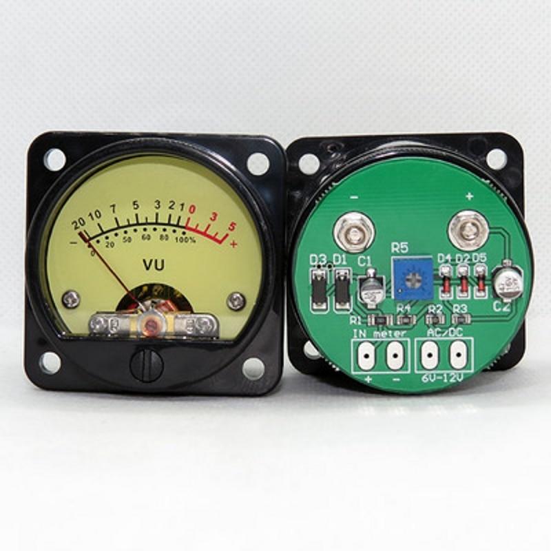 2pcs 45mm Big VU Meter Stereo Audio Amplifier Board level Indicator Adjustable With DriverAmplifier