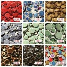 50 г/90 шт Необычные ультратонкие керамические, сделай сам мозаика, мозаичное ремесло, искусство, ювелирные изделия/Серьги/пояс мозаичное изготовление, красный, синий, коричневый, зеленый