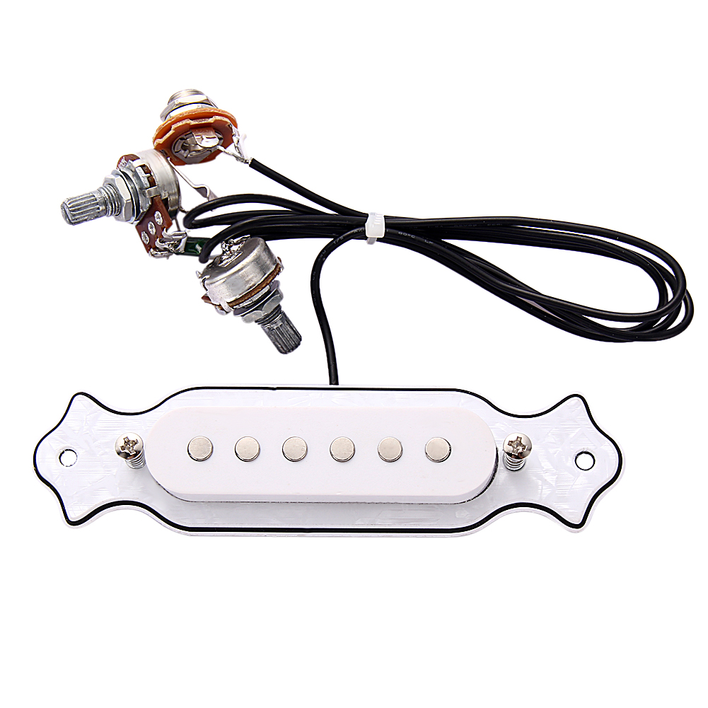 Guitar Pickup Sound Hole Magnetic Pickups For Folk Acoustic Electric Guitar Practical Musical Part 3 Colors Guitarra Accessories qh 6b magnetic preamp 12 hole sound pickup tie clip microphone audio cable set for acoustic guitar