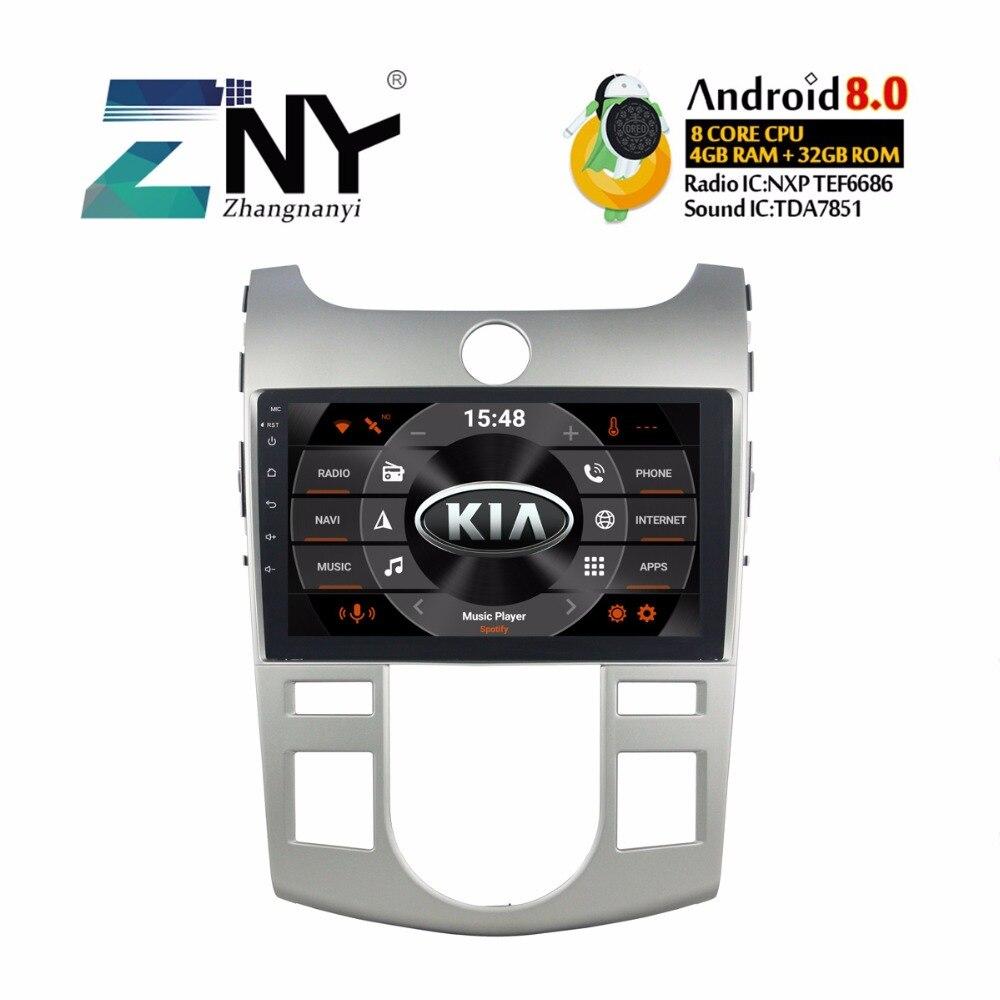Android 8.0 Voiture GPS Autoradio Pour Kia Forte Cerato 2008-2012 9 IPS Affichage Multimédia FM RDS BT WIFI Audio Vidéo Stéréo 4 + 32 GB