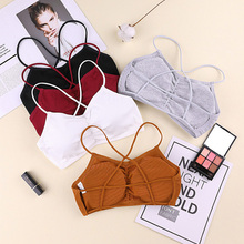 1PC Summer Girls Wireless Bra Women's Stretchy Wrap Tube Top Bandeau Cropped Tanks Underwear Tops For Girls 5 Colours