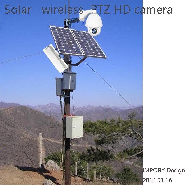 Solar Power Ip Camera Wireless Wifi Network Auto Motion