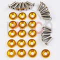 16 PC Gold Billet Aluminum Fender/Bumper Washer Bolt Engine Bay Dress Up Kit