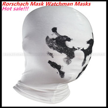 Free size New High Quality Handmade DIY Mask Halloween Watchmen Rorschach Mask Cosplay Costume Paper Mache Pulp Mask in stock